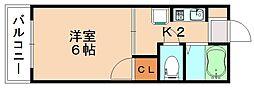 フォレストパークキャンパスサイド[2階]の間取り
