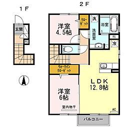 セジュール志村[2階]の間取り
