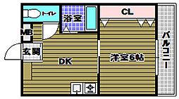 カミニート667[2階]の間取り