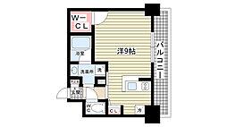 ブランTAT西宮甲子園口II 2階ワンルームの間取り
