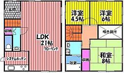 [一戸建] 大阪府岸和田市別所町3丁目 の賃貸【/】の間取り