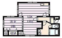 マンション・クルーズ[1階]の間取り