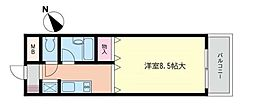 仲町台新星マンション[4階]の間取り