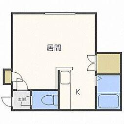 南麻生クラブハウス[1階]の間取り