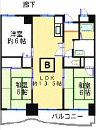 ハイツ赤坂[3階]の間取り