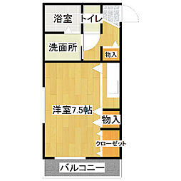 ドミナント竜ヶ崎[101号室]の間取り