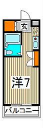 サンライズ鳥海[2階]の間取り