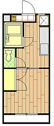 MANSION EVER GREEN(1DK)[3階]の間取り