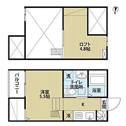 愛知県名古屋市中村区京田町3丁目の賃貸アパートの間取り