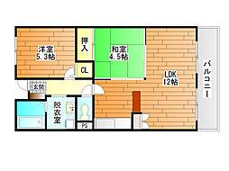 クレアヤマモト[3階]の間取り