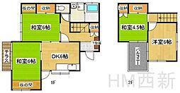 [一戸建] 福岡県福岡市早良区重留7丁目 の賃貸【/】の間取り