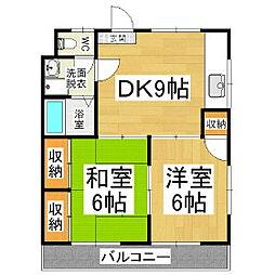 コーポコイワイ[2階]の間取り