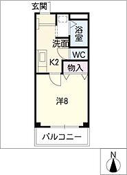 クレセントコートプレイン[2階]の間取り