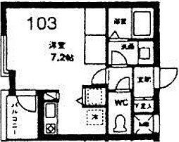 第2山王ハイツ[103号室]の間取り