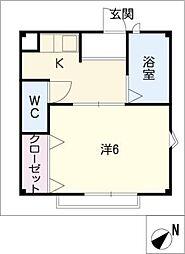 ハイツアクト1棟[2階]の間取り
