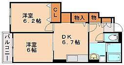 MKプレーヌ1[1階]の間取り
