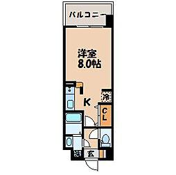 長崎県長崎市若草町の賃貸マンションの間取り