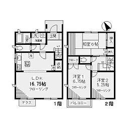 [テラスハウス] 神奈川県川崎市麻生区金程2丁目 の賃貸【/】の間取り