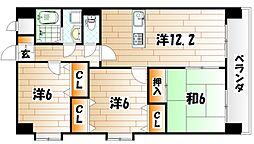 ミラドール・F[5階]の間取り