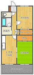 神谷第2マンション[4階]の間取り
