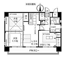 プリーマ仲町台[5階]の間取り