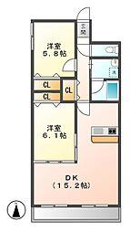 ロフティー上野[2階]の間取り