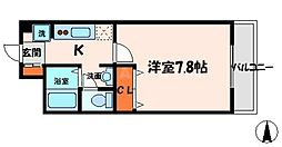 コンフォール深田[3階]の間取り