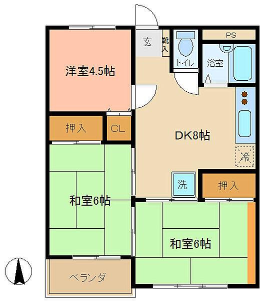 小宮マンションパートII[3階]の間取り
