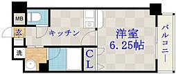 ジュネス関目高殿[5階]の間取り