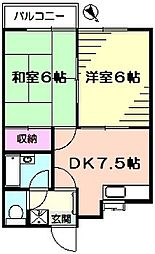 コンフォルト23[2階]の間取り