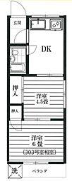 扇マンション[305号室]の間取り