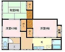 広島県呉市西谷町の賃貸アパートの間取り