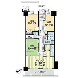 サーパス昭和町[9階]の間取り