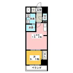 ロイジェント新栄III[9階]の間取り