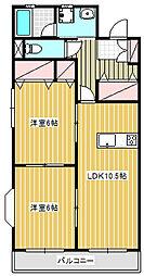 フェンネル鵠沼[3A号室]の間取り