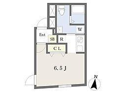 都営大江戸線 飯田橋駅 徒歩7分の賃貸マンション 3階ワンルームの間取り