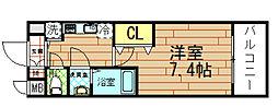 アドバンス西梅田Vグランデ[5階]の間取り