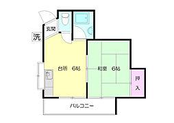 第2鈴木ハイツ[1階]の間取り