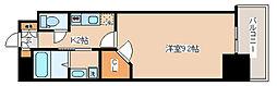 神戸市西神・山手線 湊川公園駅 徒歩1分の賃貸マンション 7階1Kの間取り