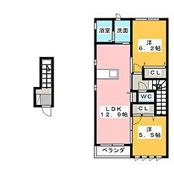 シャーメゾン ブランシェ[2階]の間取り