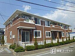 愛知県岡崎市欠町字金谷の賃貸アパートの外観