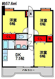ラビナコート21[4階]の間取り