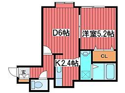 コロアール[2階]の間取り