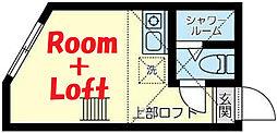 相鉄本線 和田町駅 徒歩5分の賃貸アパート 1階ワンルームの間取り