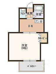 ヴィレッヂコート深田[4階]の間取り