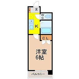 愛知県名古屋市西区庄内通4丁目の賃貸マンションの間取り