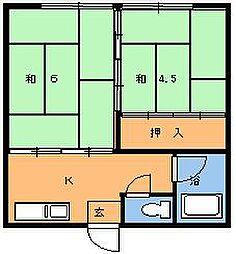 正和荘[202号室]の間取り
