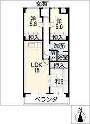 鴻ノ巣ヒルズ[3階]の間取り