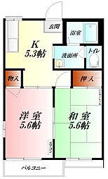 コーポ神田[2階]の間取り