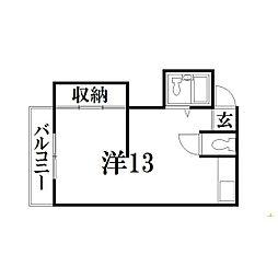 静岡県浜松市中区曳馬5丁目の賃貸アパートの間取り